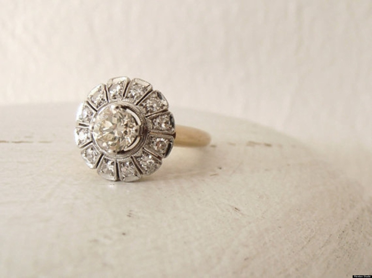 simple vintage wedding rings vintage wedding rings Simple vintage wedding rings Vintage Enement Rings To Suit Every In Bride Photos Huffpost