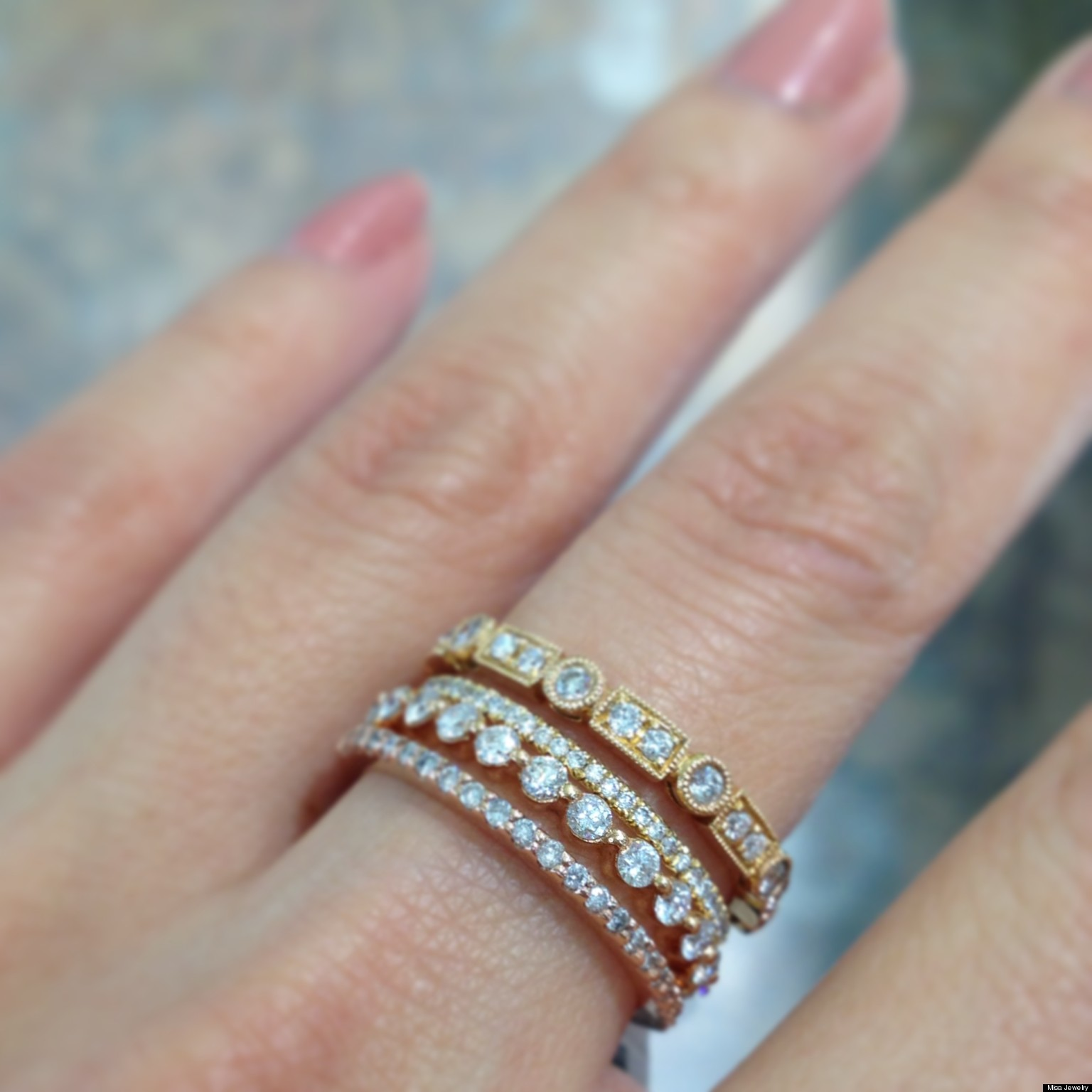 stackable wedding bands n wedding sets Stackable Wedding Bands Are One Of Our Favorite Jewelry Trends PHOTOS HuffPost
