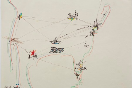 22 famous artists draw the united states from memory