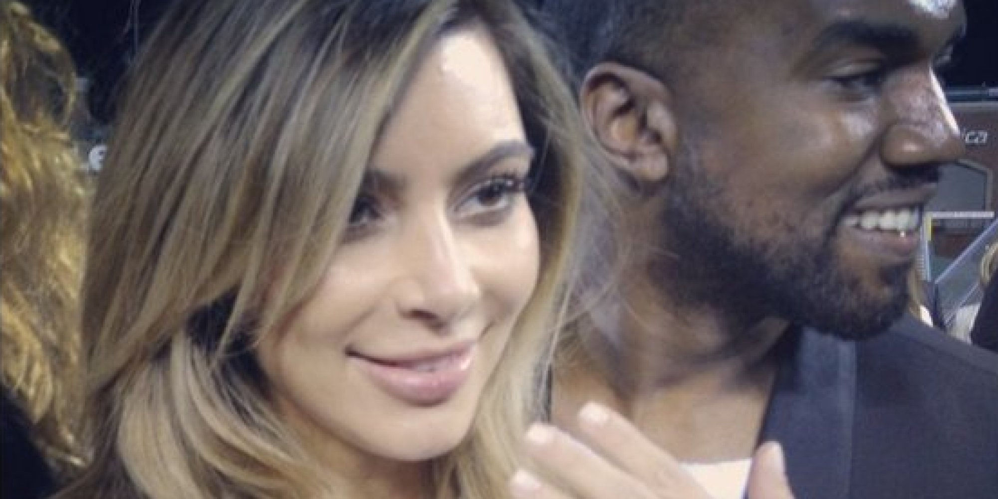 kim kardashian ring kanye west photos n wedding ring Kim Kardashian s Ring From Kanye Is Smaller Than Her Last One But By The Same Designer HuffPost