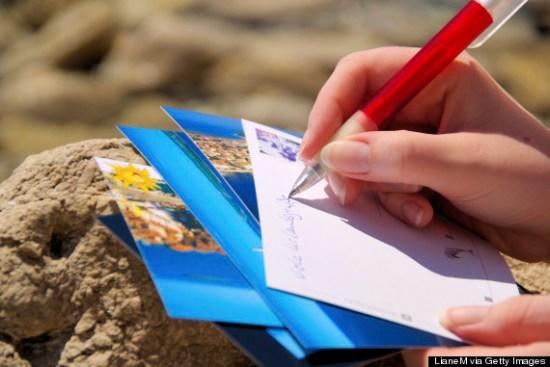 write postcard