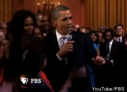 Obama Sings Sweet Home Chicago