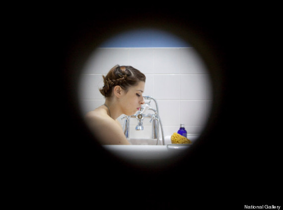spying on sister in shower