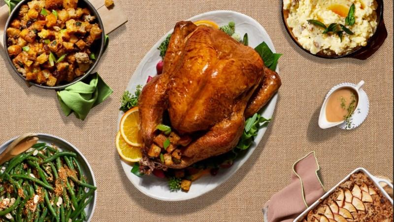 Large Of Order Thanksgiving Dinner