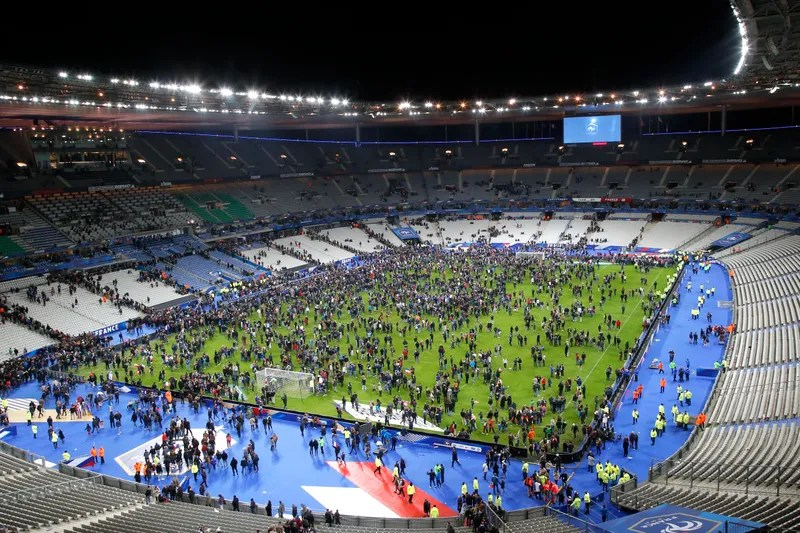 Decision Not To Evacuate Stade de France During Paris Attacks May     On Friday  at around 9 15 p m  Paris time   15 minutes into the France Germany  friendly   a man attempted to enter the Stade de France at Gate D