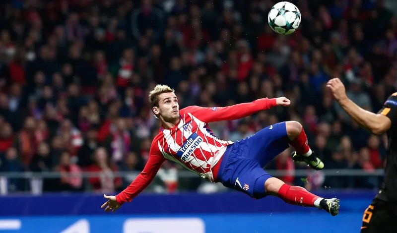 Antoine Griezmann Smacked In A Very Pretty Bicycle Kick Golazo Photo  Gonzalo Moreno Getty