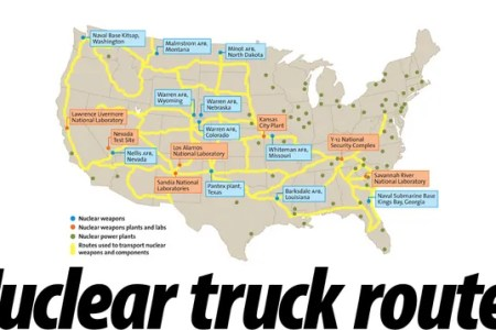 these are the routes for all us military nuclear weapons