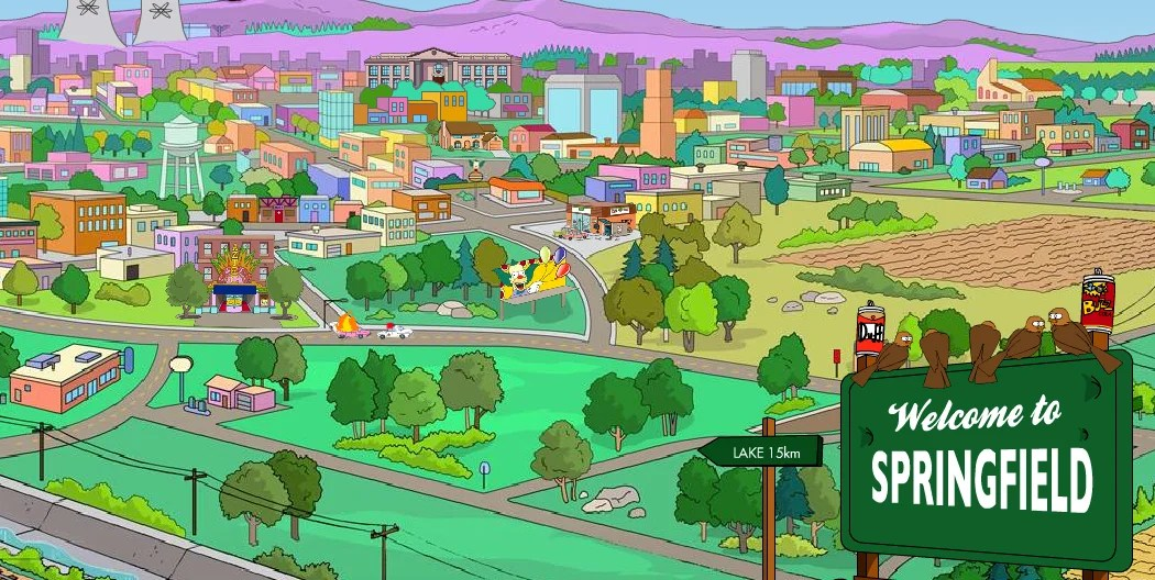 Image result for springfield the simpsons