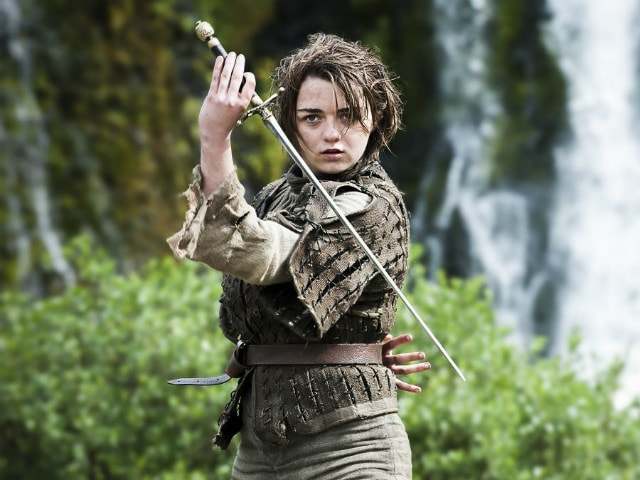 maisie williams as arya stark in a still from game of thrones