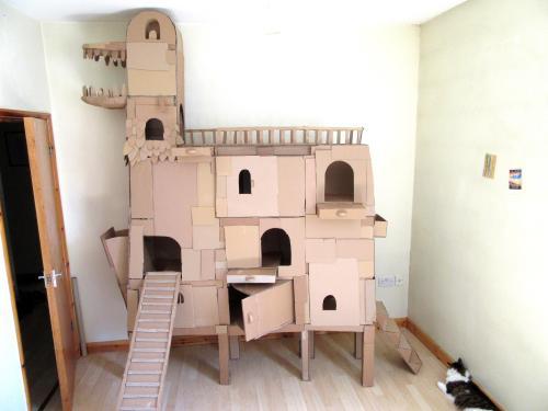 Medium Of Cardboard Cat House