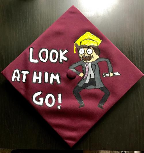 Medium Of Decorated Graduation Caps