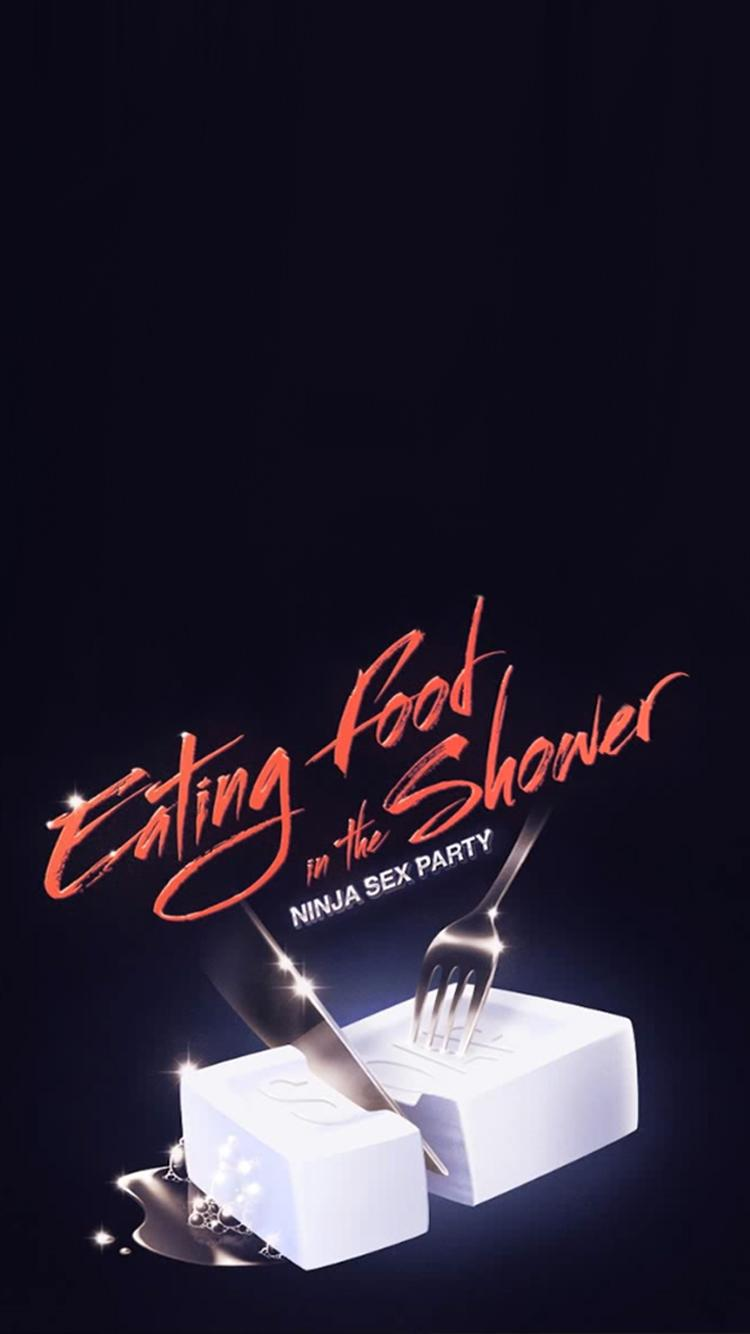 Fullsize Of Eating Food In The Shower