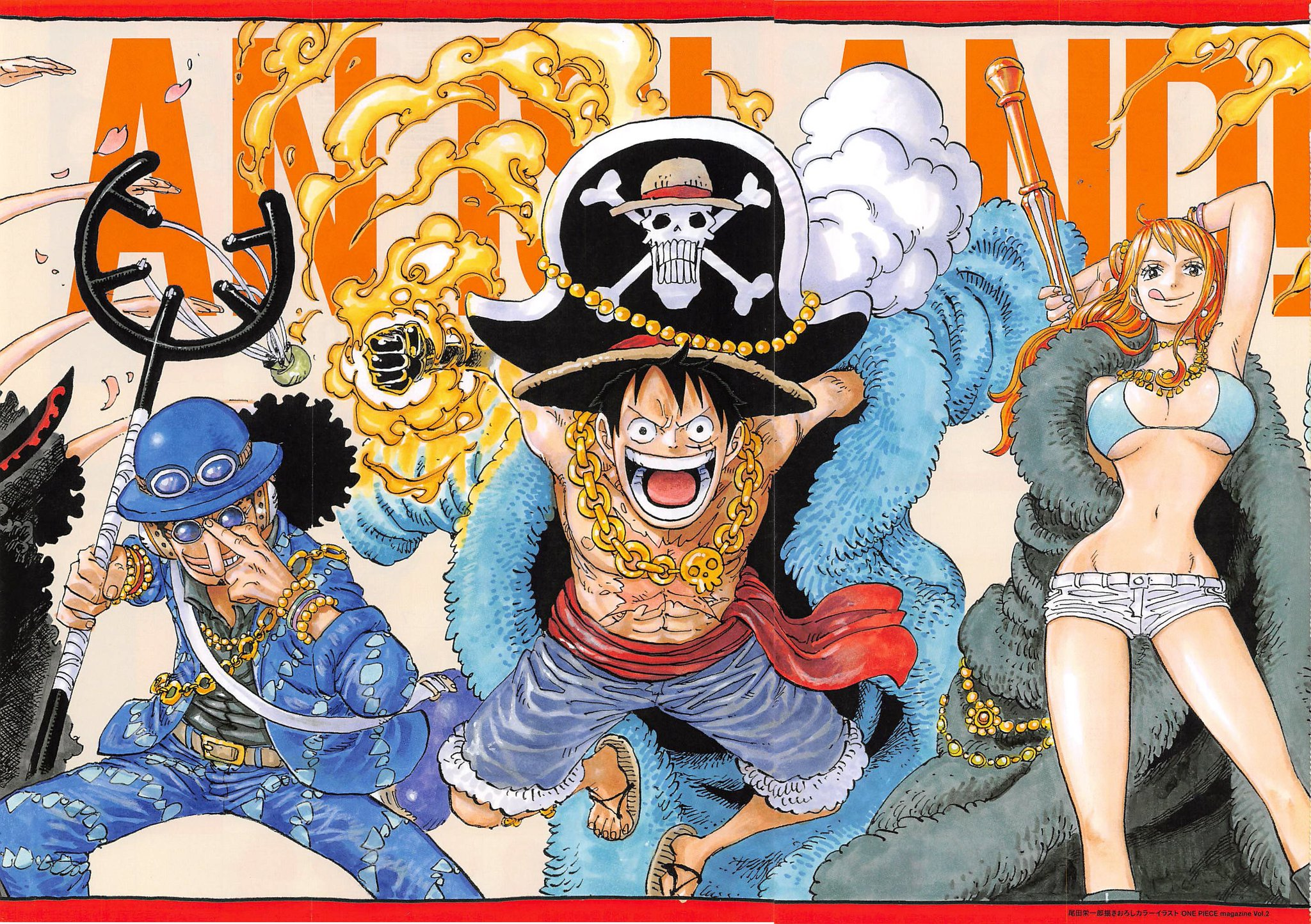 Napoleon like Straw Hat reference in Magazine Colorspread    OnePiece Napoleon like Straw Hat reference in Magazine Colorspread