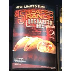 Wonderful Reaper Ranch Quesarito Box Reaper Ranch Quesarito Box Wi Tacobell Quesarito Taco Bell Box Quesarito Taco Bell Sauce