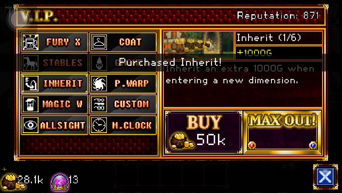 Soda Dungeon VIP tavern upgrades