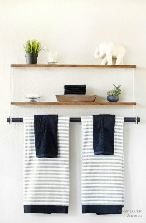 Medium Of Wall Shelf Bathroom