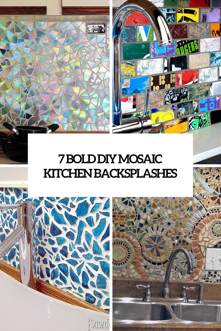 cute bold diy mosaic kitchen backsplashes mosaic kitchen backsplash 7 bold diy mosaic kitchen backsplashes cover