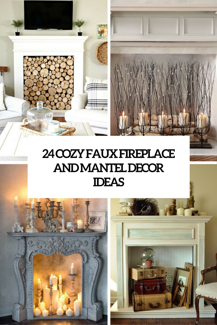Natural Fireplace Decor Ideas Cove Faux Fireplace Mantel Decor Ideas Shelterness Faux Fireplace Mantel Tv Stand Faux Fireplace Mantel Faux Mantel Shelves houzz-02 Faux Fireplace Mantel