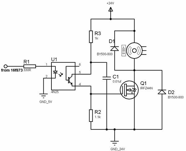 pwm dc motor sd control