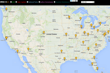 image gallery interactive google map usa