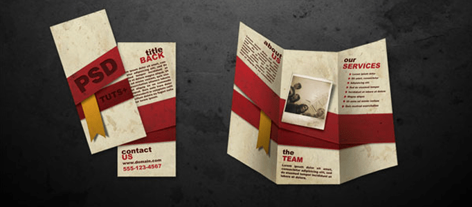 how to create folded brochure like in photoshop   Graphic Design     enter image description here