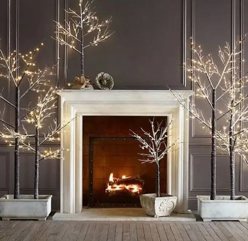 Cozy Fireplace Décor Idea For Your Wedding Day