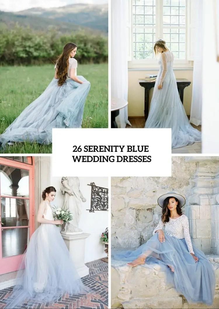 serenity wedding dresses blue wedding dresses 26 Serenity Blue Wedding Dresses That Inspire
