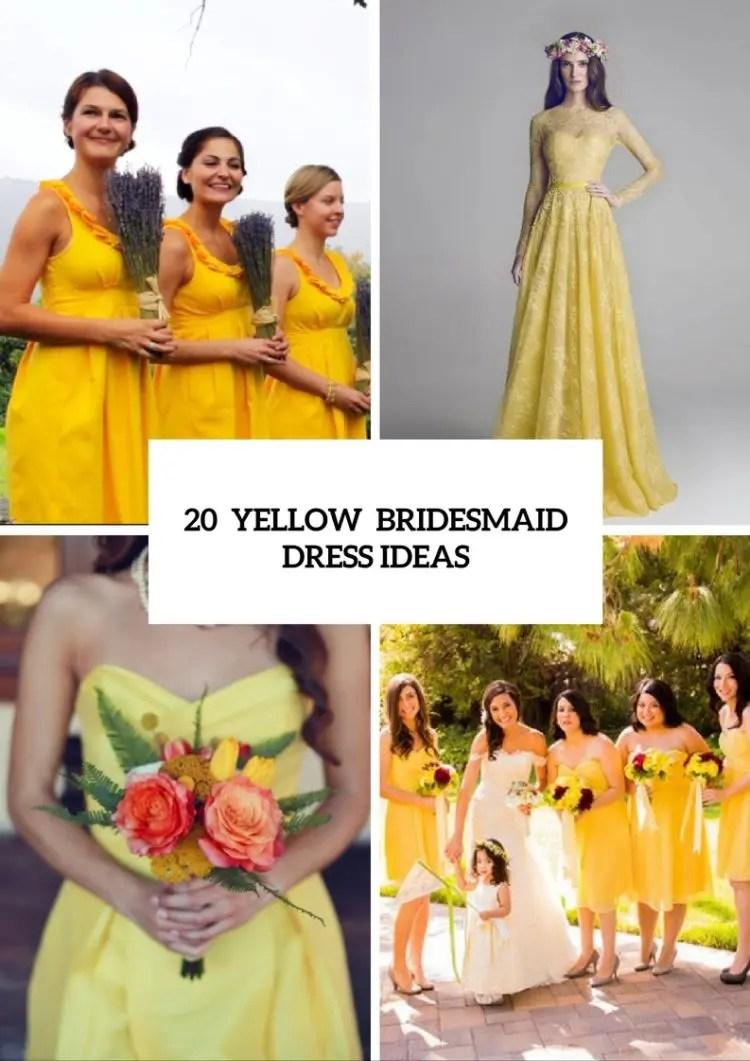 Large Of Yellow Bridesmaid Dresses