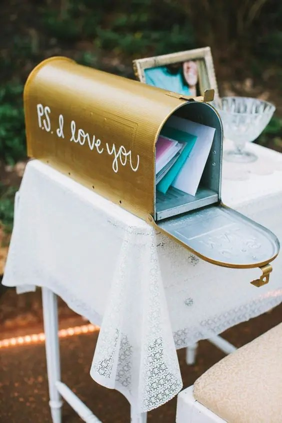 a mailbox with calligraphy is such a romantic idea