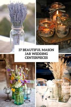 Astounding Ribbon Mason Jar Centerpieces S Mason Jar Wedding Centerpieces Cover Mason Jar Wedding Centerpieces Weddingomania Mason Jar Centerpieces