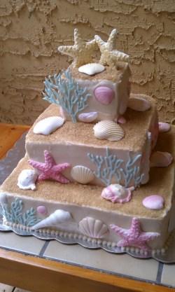 Small Of Beach Wedding Cake