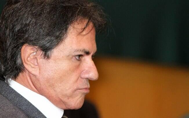 Augusto Mendonça durante acareação da CPI da Petrobras, na sede da Justiça Federal, em Curitiba (PR).