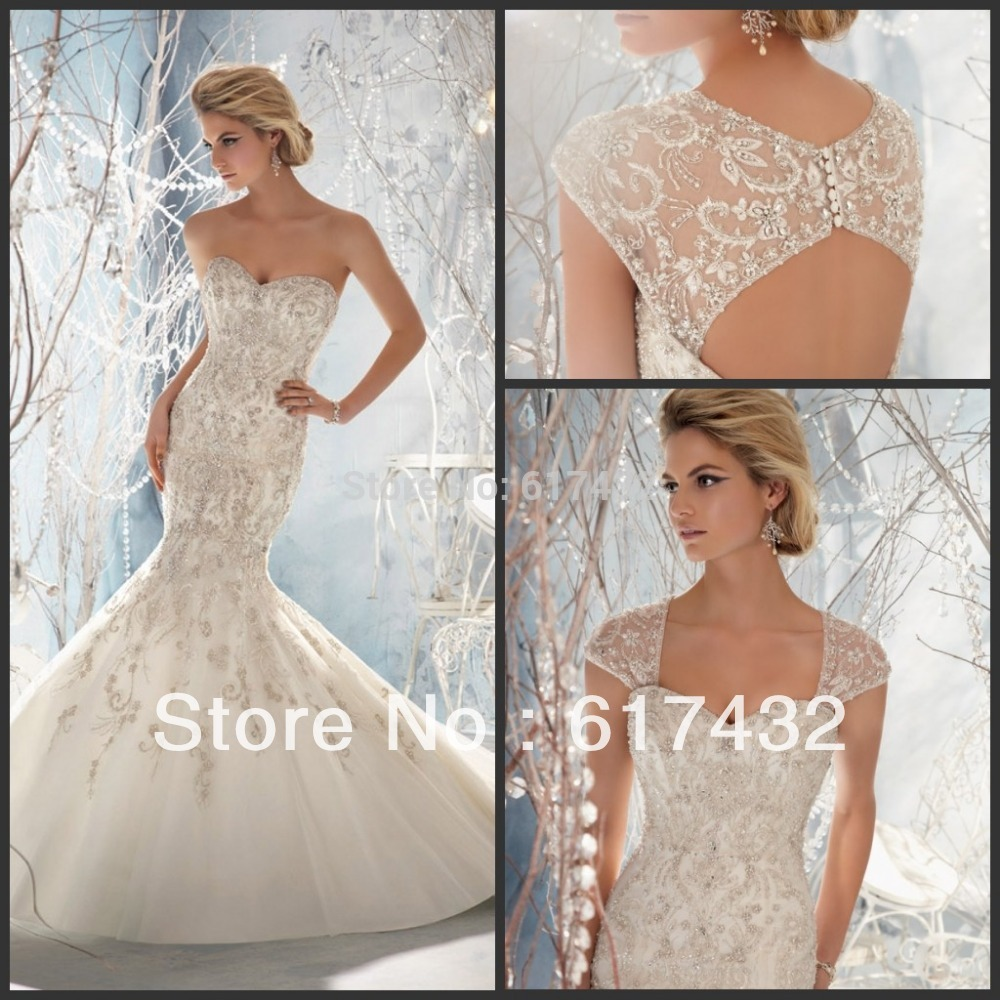 wedding dress with straps Hottest Style Strap Applique Tulle Bridal Dress