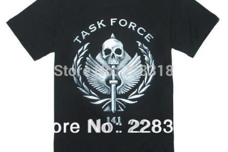 new free shipping quality font b black b font cotton short sleeve t shirts call of