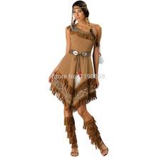 Fantasia de Halloween Aliexpress de Pocahontas Indiana
