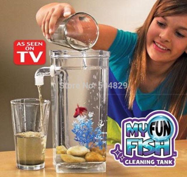 No clean fish tank as seen on tv fun fish self cleaning for Fun fish tank