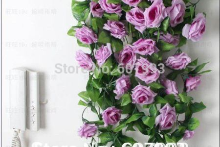 artificial flowers vine silk rose ivy artificial rose ivy home decoration flowers 20pcs lot free shipping