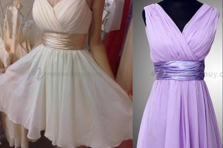 2014 short bridesmaid dress a line country style bridesmaid dresses spaghetti straps chiffon weddins ruffles party