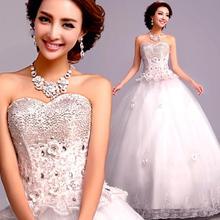 Vestido de Noiva Aliexpress com pérolas