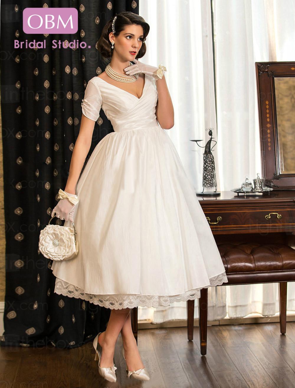 23 Top 45 Tea length Wedding Dress with Color t length wedding dresses Tea length Wedding Dress with Color