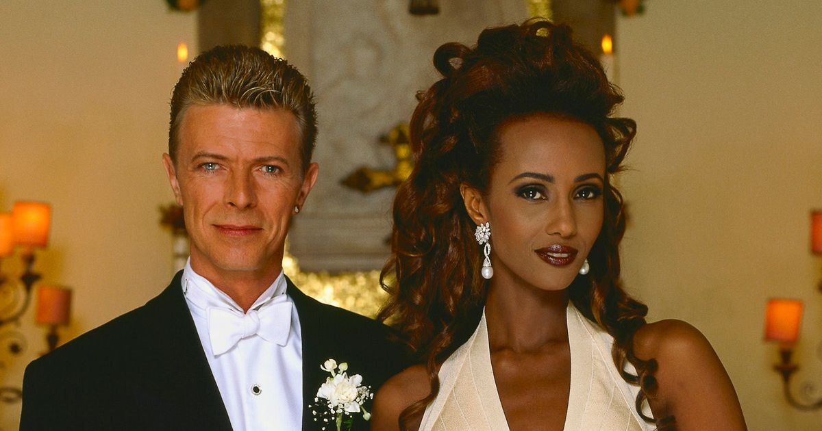 Image result for David Bowie) through Iman,