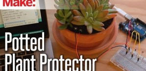 Monitor Your Indoor Garden With Weekend Projects and the Potted Plant Protector