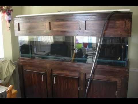 Build your own CUSTOM 125 gallon fish tank stand and hood.   YouTube