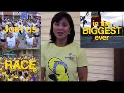 Rep. Leni Robredo on Freedom Run 2013