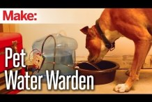 Refill a Water Bowl with the Pet Water Warden and Weekend Projects
