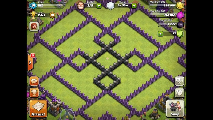 Clash of clans best th 10 defense level 4 pekka attack clash of clans