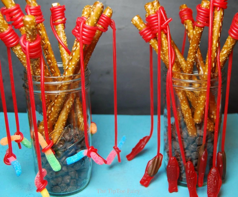 Pretzel Fishing Rods   The TipToe Fairy