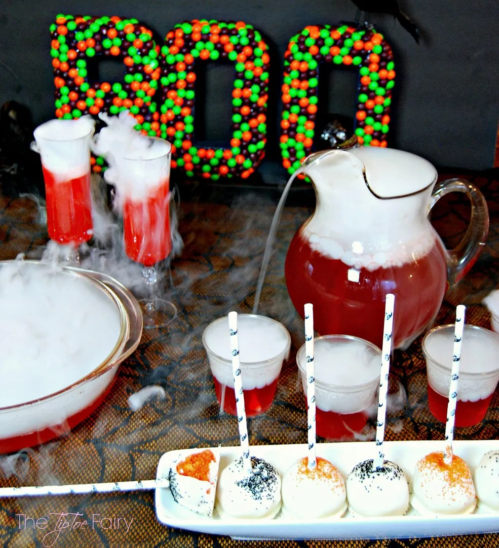 Make some Dragon's Blood punch and Sunkist TEN Orange Cake Pops for your Halloween party! Easy to make recipes! #drinkTEN #CollectiveBias #shop