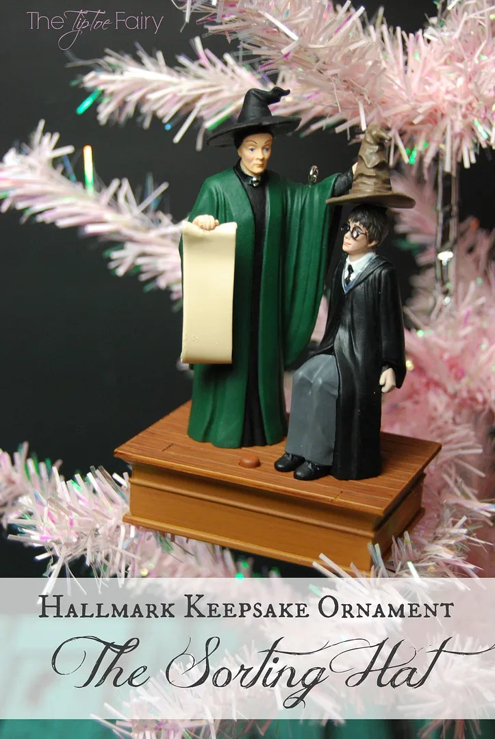 The Sorting Hat from Harry Potter! A Hallmark Keepsake Christmas Ornament! Come check out the giveaway for a SURPRISE Keepsake Ornament | The TipToe Fairy #KeepsakeIt #christmasornaments