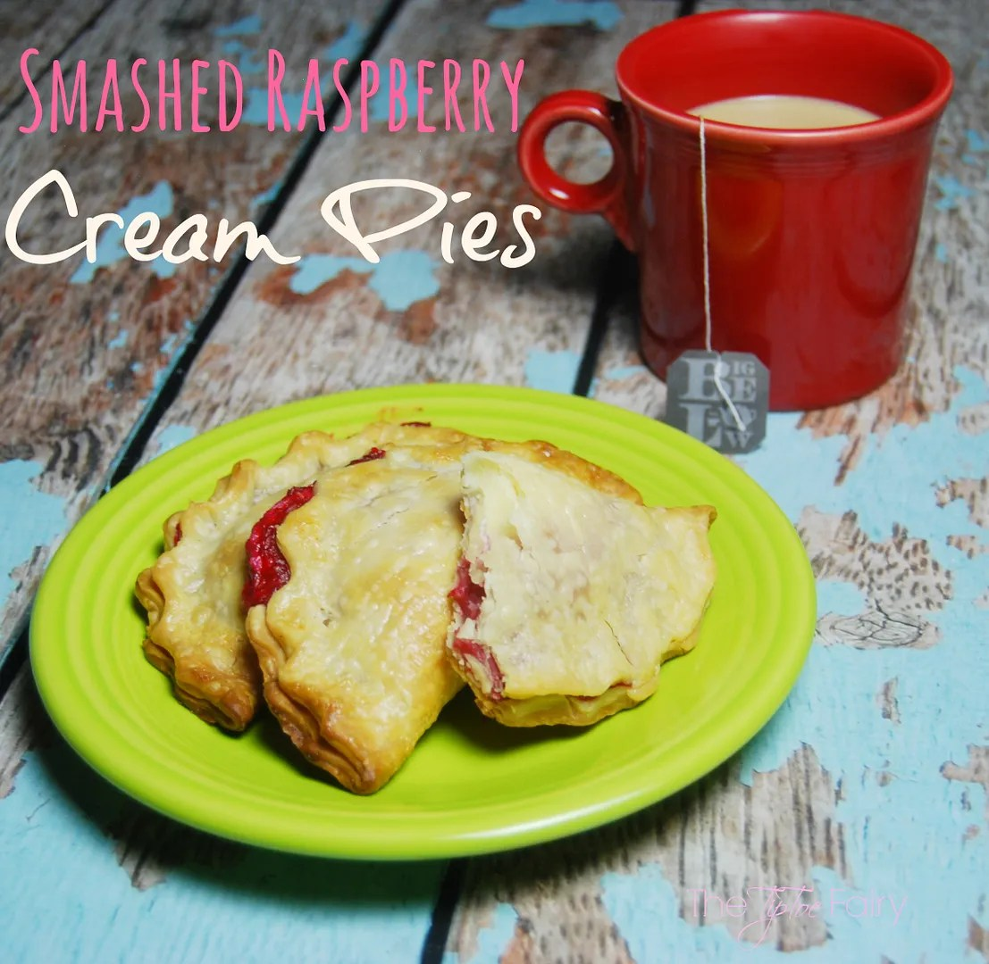 Smashed Raspberry Cream Cheese Hand Pies - a delicious dessert made with Truvia® and perfect with a cup of Bigelow tea | The TipToe Fairy #ad #SweetWarmUp #pierecipe
